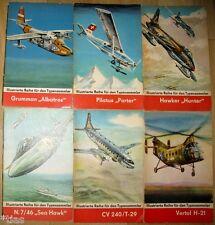 Illustrierte Reihe für den Typensammler Konvolut 6 Hefte DDR 1966