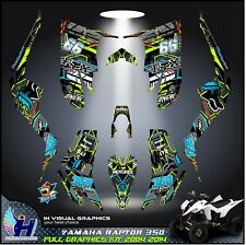 Yamaha Raptor 350 graphics kit 2004 2006 2009 to 2014 decals stickers atv