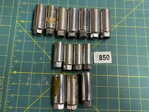 Lot of Vtg Old Craftsman USA Spark Plug Sockets, Various Sizes - All V Logo