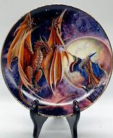 "Royal Doulton Myles Pinkney Franklin Mint ""Moon Mystic"" Plate 8""W"