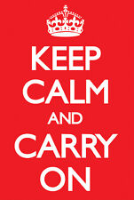 KEEP CALM AND CARRY ON Poster ~ Medium Size 16x20 Print