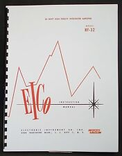 EICO Model HF-32 Hi-Fi Integrated Amplifier Operating and Construction Manual