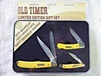 SCHRADE OLD TIMER LIMITED EDITION POCKET KNIFE GIFT SET OF 3 KNIVES,2020 - NIP