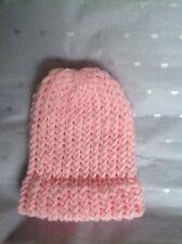 BN Newborn Handmade Knitted Pink Hat