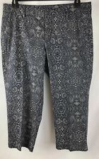 Dockers , women's size 12, capri , pants blue white paisley