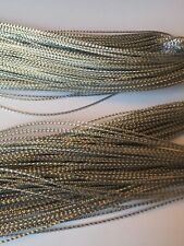 20 Metres Silver Metallic Cord Thread Stringing 0.8mm Crafts Wrapping