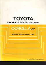 TOYOTA COROLLA AE80, 82, CE80 SERIES, APRIL 1983 ELECTRICAL WIRING DIAGRAM BOOK