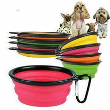 Travel Collapsible Foldable Pet Dog Bowl Food Water Bowls Dish Toy Flyer Frisbee