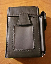 Kingstar Black PU Leather Wrapped Kings or 100s Cigarette Case W/ ID Window