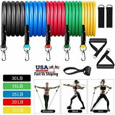 11Pcs Resistance Bands Set Exercise Yoga Home Workout Cross fit Fitness Training