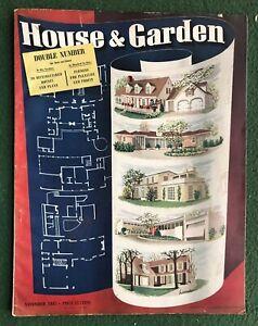 House & Gardens Nov 1941 DYI how to magazine
