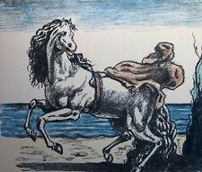 """Giorgio DE CHIRICO """"Cavallo con manto"""" , 1969 litografia originale firmata"""