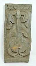Antique Sand Stone Mughal Floral Carved Wall Panel Original Old Fine Hand Carved
