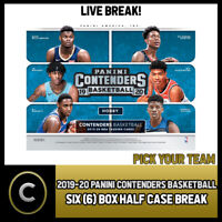 2019-20 PANINI CONTENDERS 6 BOX (HALF CASE) BREAK #B333 - PICK YOUR TEAM