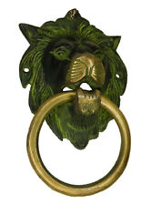 Black Lion Face Antique Vintage Style Brass Handmade Door Knocker Home Decor