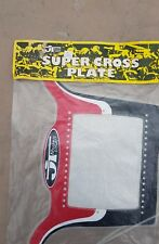 JT RACING BMX NUMBER PLATE-NOS- 80's Old School 'HUTCH 'CW 'GT