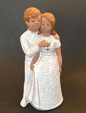 "Jie Gantofta Sweden Couple Figurine 11"" Gold Heart Edit Risberg Guldhjartat Love"