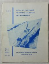 Men's A A U Outdoor Swimming  and Diving Championships 1961 Official Program Aug