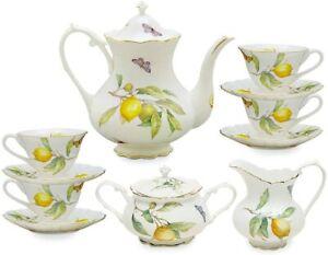 Luxury Lemon Tea/Coffee 11 Piece Set