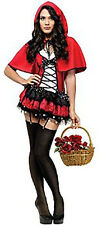 Women's Fantasy Red Hot Little Red Riding Hood Halloween Costume Size Small 6-8