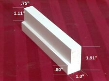 """plantation shutter materials L frame small primed basswood 75"""" (1 PC)"""
