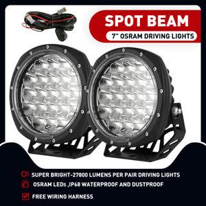 2X 7 inch LED Driving Lights Combo Beam OSRAM Offroad Spotlights 12V 24V Spot