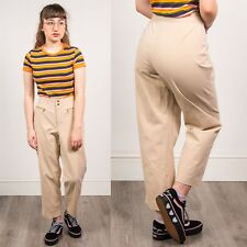 RALPH LAUREN TROUSERS WOMENS BEIGE STRAIGHT LEG CASUAL MID RISE COTTON CHINOS 16