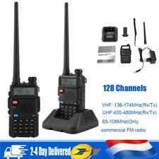 2x TALKIE WALKIE pro double bande FM 65-108MHz  VHF(136-174MHz)  UHF(400-480mhz)