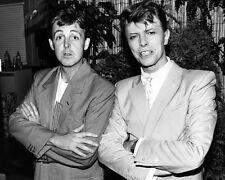 David Bowie & Paul Mccartney 16x20 Canvas Giclee Rare