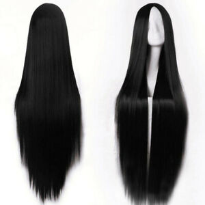 Fashion Wig Long Straight Hair Synthetic Heat Resistant Full Wigs Cosplay NEW UK