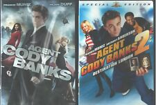 AGENT CODY BANKS 1 & 2: Destination London- Frankie Muniz-Hilary Duff- NEW 2 DVD