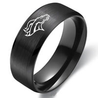 Denver Broncos Football Team Stainless Steel Ring Band Collection Size 6-13