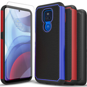 For Motorola Moto G Play Case, Shockproof Armor + Tempered Glass Protector