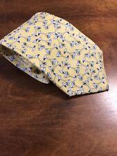 "J. Crew Yellow Martini Print Men's Silk Neck Tie Made in the USA 3.5"" D11"