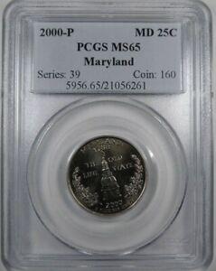 2000 P 25C PCGS MS 65 Washington 50 States Quarter Maryland [6261]