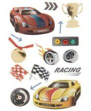 Race car Racing Racecar Checkered Flag Trophy Drag NASCAR La Petites Stickers