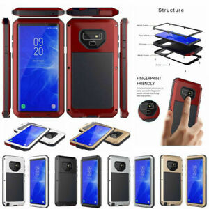 FOR SAMSUNG GALAXY S9 S8 S10 PLUS SHOCKPROOF ALUMINUM METAL ARMOR CASE COVER