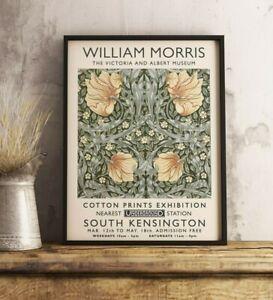 William Morris Exhibition Poster, William Morris Print, Vintage Floral Art Decor