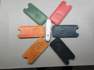 Genuine leather pocket  slip case sheath for Victorinox folders