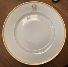 "ROSENTHAL CHINA SELB BAVARIA 7* 10"" DINNER PLATES GOLD RIM INITIAL ""W"""