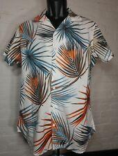 Free Planet Men's Shirt Short Sleeve Size S Aloha Surf Palm Trees