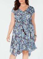 Style & Co Women's Plus Size Drawstring-Waist Dress,