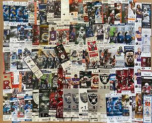 LOT of 103 - NFL FOOTBALL FULL TICKET TICKETS STUB - RAIDERS SEAHAWKS BROWNS