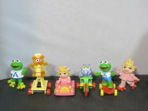 Vintage 1986 Muppet Babies McDonald's Happy Meal Toys Complete Set of 4 + 2 -- B