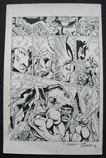 Original Art by JOE RUBINSTEIN featuring IRON MAN, SPIDER-MAN & HULK