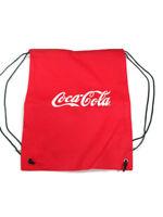 Coca-Cola Red Drawstring Cinch bag with White Coca-Cola Logo  - BRAND NEW