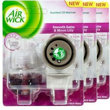 3x Air Wick Duftstecker-SET - Smooth Satin & Moon Lily 19ml