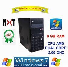 COMPUTER ASSEMBLATO NTX NERO CPU AMD DUAL CORE 2,90 GHZ / WINDOWS 7 PRO- LICENZA