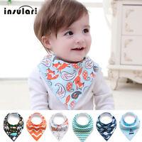 100% Cotton Fiber Baby Bibs Soft Double Layers Burp Bib Kid Bandana New hi