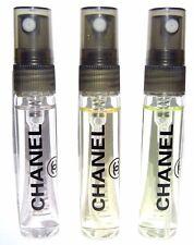 Chanel 6ml Travel SAMPLE Chance Eau de Toilette, Fraiche, Tendre EDT Bundle